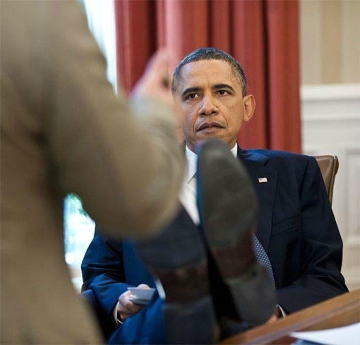 Президент США на работе (14 фотографий)