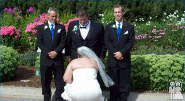 Прикольные свадебные фотографии (часть 2, 58 фотографий)