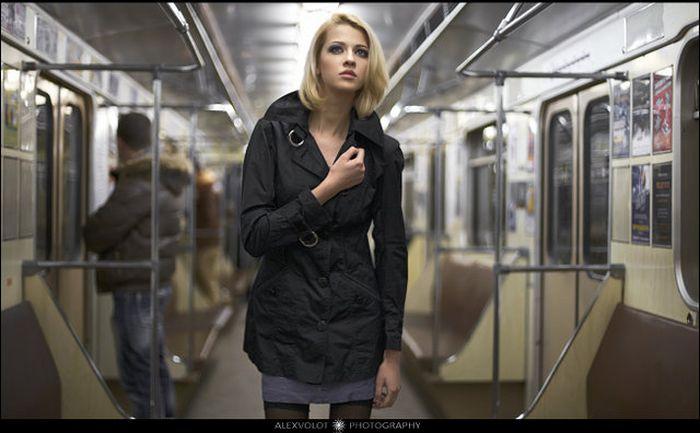 Фотосессия в метро (20 манящих фото)