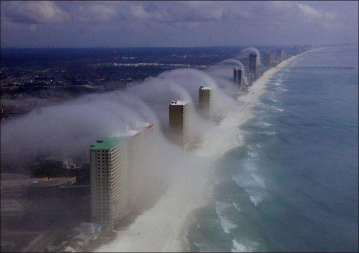Ветер на побережье Флориды (5 фотографий)