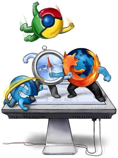 Войны браузеров (10 картинок)