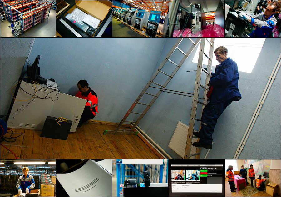 Видеокамеры для наблюдения за выборами Президента РФ через интернет (32 фотографии)