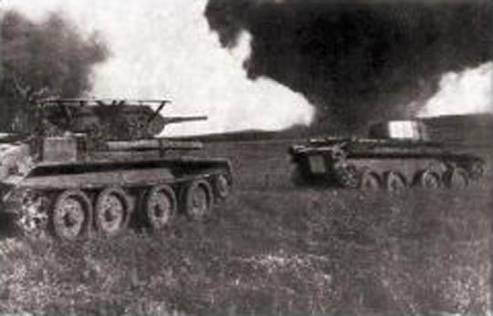 ВОВ 2 танк в бою