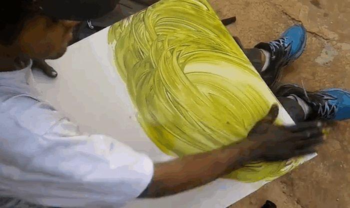 Удивительный талант уличного художника 5 гифок