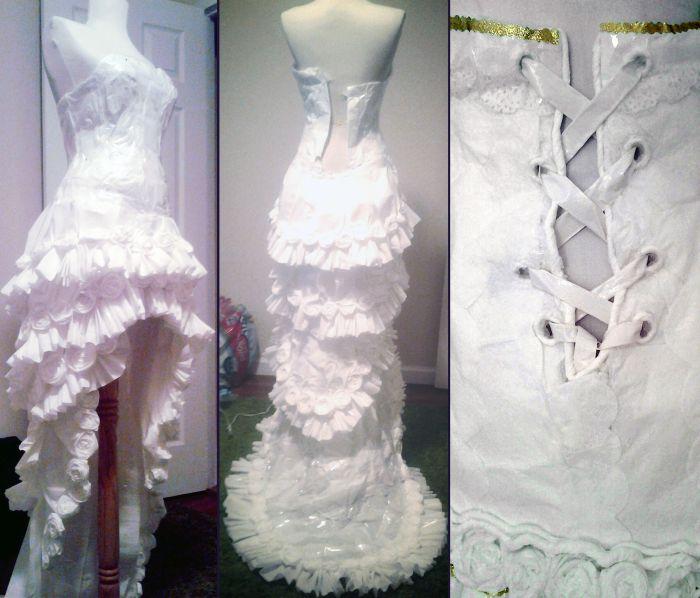 Угадайте из чего сделано платье?