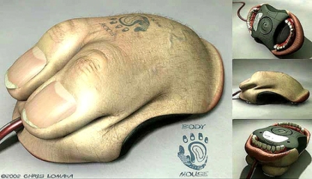 Body Mouse - оригинальная компьютерная мышь
