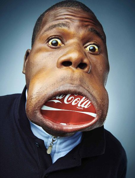Человек - большой рот (4 фотографии)