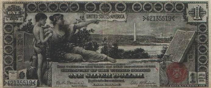 Очень старые и редкие долларовые купюры (22 фотографии)