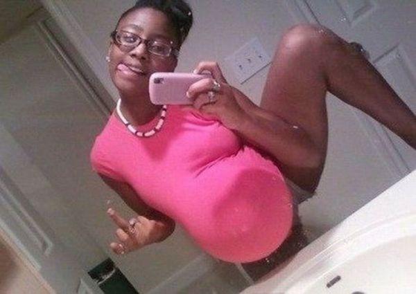 Самые странные фотографии беременных (41 фотография)