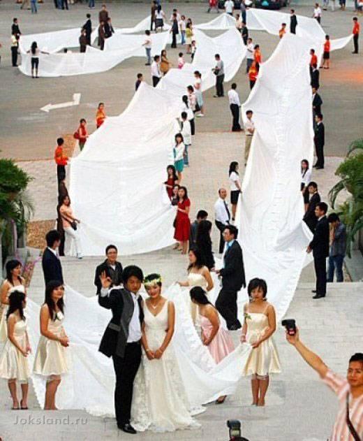 Самые необычные подвенечные платья (14 фотографий)