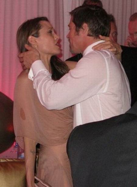 Анджелина Джоли и Бред Питт пьяные