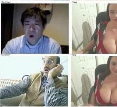 Девушка с большой грудью и реакция мужчин