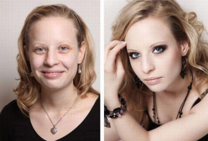 С макияжем и без (16 фотографий)
