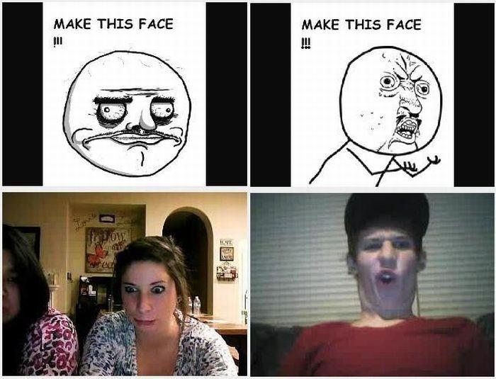 Сделай такое лицо (6 фотографий)