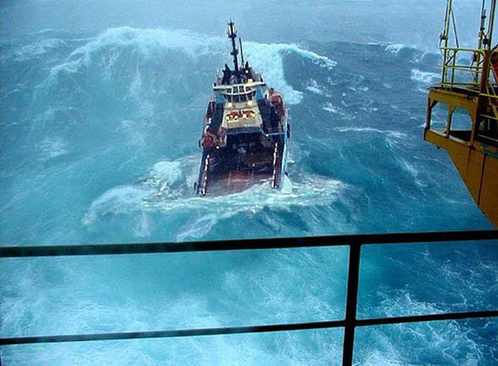Борьба кораблей со штормом (35 фотографий)