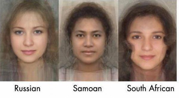 Среднестатистические женские лица (14 фотографий)