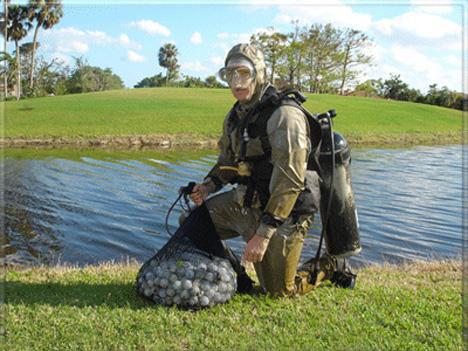 Ныряльщик за мячами для гольфа