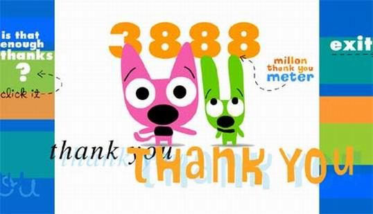 Скажем друг-другу Миллион спасибо - 1000000 Thank You!