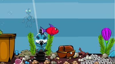 Выбираемся из аквариума (flash игра)