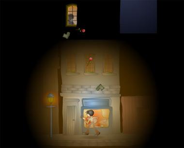Под окном любимой (flash игра)