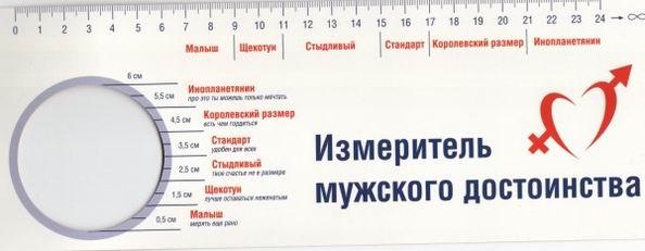 Измеритель мужского достоинства для применения в быту
