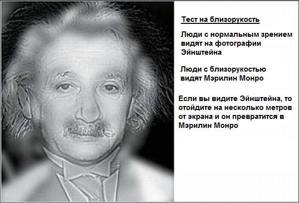 Тест на близорукость