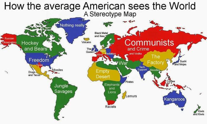 Как американцы видят мир