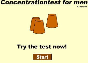 Тест: Концентрация внимания для мужчин - Игра НАПЕРСТКИ