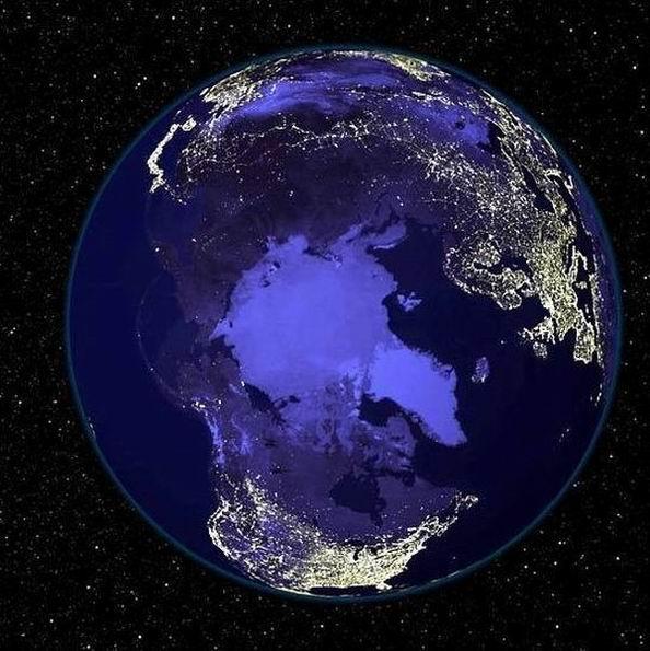 Наша планета ночью (6 фотографии)