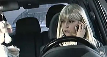 Блондинка за рулём (video)