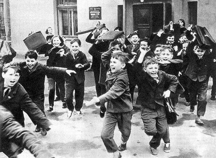 СССР, Ленинград, шестидесятые годы, проходит мониторинг знаний учеников