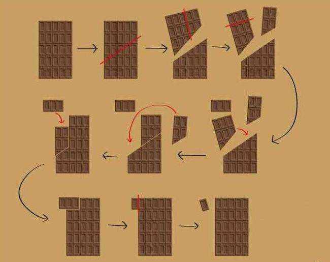 Шоколадная плитка - бесконечная сладость (1 фото + 2 гифки)
