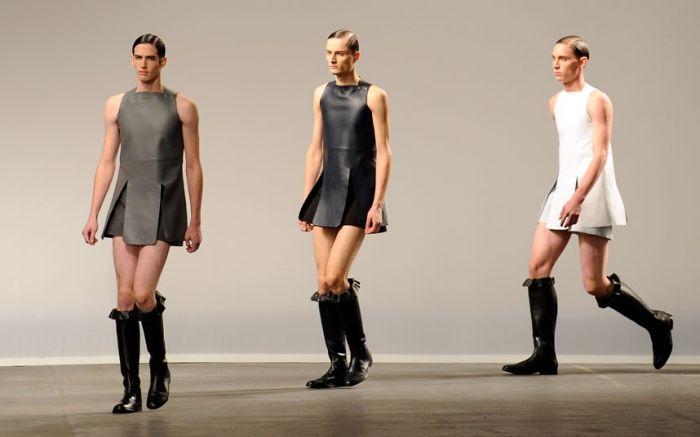 Суровый мир моды - Платья для мужчин (7 фото)