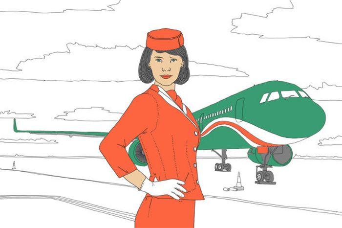 Тонкости работы стюардессы (7 картинок)