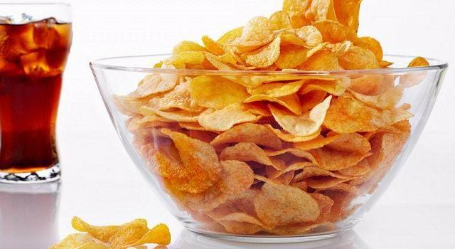 Вредные для здоровья продукты чипсы
