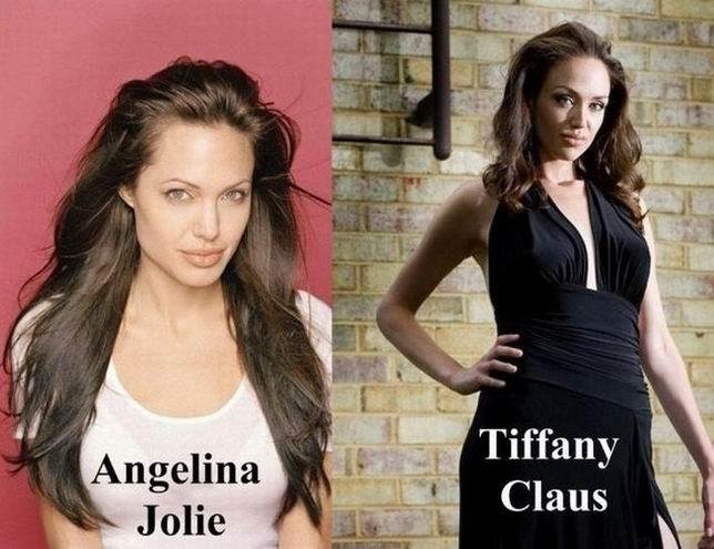 Тиффани Клаус - двойник Анджелины Джоли (18 фотографий)